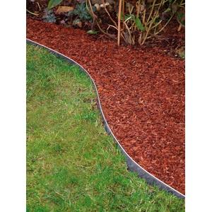 Gartenwelt Riegelsberger 10 STK. Rasenkante verzinkt 118x13 cm Beetumrandung Rasenbegrenzung Beeteinfassung