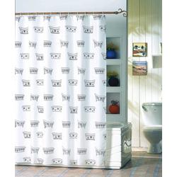 MSV Duschvorhang Badewanne, Breite 180 cm weiß