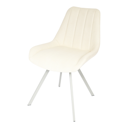 Krzesło tapicerowane Darkame z przeszyciami na oparciu