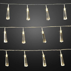 Hellum LED Lichterketten-System Eiszapfen Warmweiß