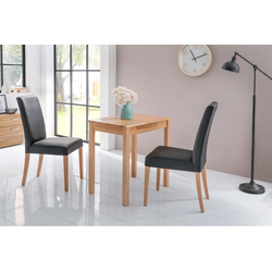 Home affaire Essgruppe Lea, (Set, 3-tlg) schwarz 70 cm