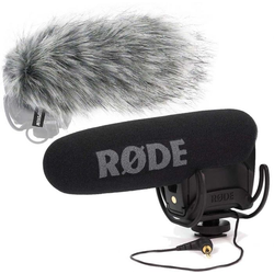 Rode Mikrofon VideoMicPro Rycote + DeadCat VMPR Fellwindschutz