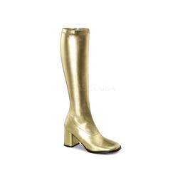 Retro Stiefel GOGO-300 - PU Gold
