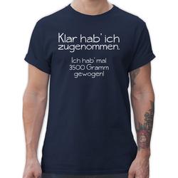 Shirtracer T-Shirt Klar hab' ich zugenommen - Statement - Herren Premium T-Shirt XL