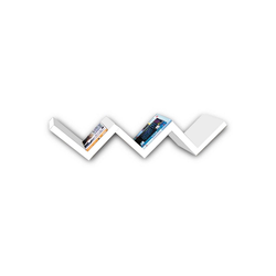 HTI-Line CD-Regal Stufenregal Altona, Wandregal weiß