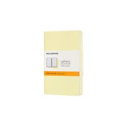 MOLESKINE Notizheft, Cahier 3er Set - mit Kartoneinband - 70g-Papier gelb