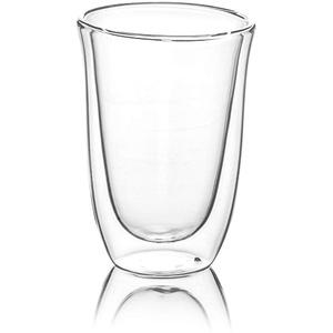 YEM 6 x 250ml doppelwandige Thermo-Gläser, für Latte Macchiato, Cocktails, Desserts, Tee Glas-Set, Doppelwandgläser, Caffeine