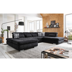 Megapol Wohnlandschaft Stage-S in Belle black