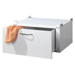 Sz Metall Waschmaschinen-Untergestell, mit Schublade weiß