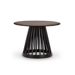 Fan Tisch, Platte Marmor weiß, ?60 cm