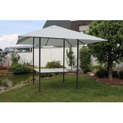Leco Pavillon, Leco Diningpavillon 3x3m Pavillon + Esstisch Festzelt Gartenzelt Gartentisch