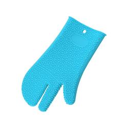 Kochblume Topfhandschuhe Silikon Handschuh, Hitzebeständig bis 230° blau