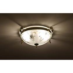 Licht-Erlebnisse Deckenleuchte ASTA Deckenleuchte Jugendstil Messing Glas Esstisch Wohnzimmer Lampe