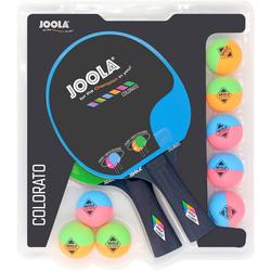 Joola Tischtennisschläger Tischtennisschlägerset-Colorato (Set, 10-tlg)