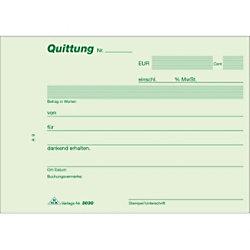RNK Quittungsblock DIN A6 Quer Mikroperforation Blaupapier 50 Blatt