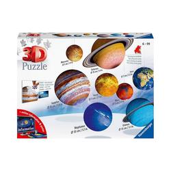 Ravensburger 3D-Puzzle 8-tlg. Set 3D-Puzzleball® Planetensystem, Ø5-15, Puzzleteile