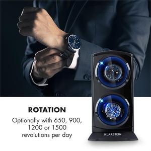 St. Gallen Premium Uhrenbeweger 2 Uhren 4 Geschwindigkeiten schwarz