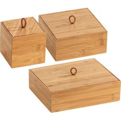 WENKO Aufbewahrungsbox Terra, (Set, 3 St.), Organizer-Set braun Kleideraufbewahrung Aufbewahrung Ordnung Wohnaccessoires