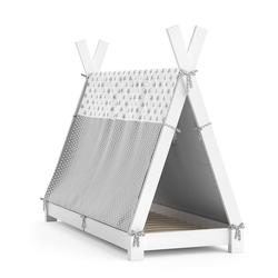 VitaliSpa® Kinderbett Kinderbett Hausbett Tipi + Überwurf 70x140cm Indianerzelt Indianerbett