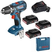 Bosch GSR 18-2-LI Plus Professional inkl. 3 x 2,0 Ah + Koffer (0615990K4H)