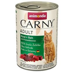 ANIMONDA Carny RIND + REH MIT PREISELBEEREN 6 x 400 g