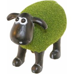 Casa Collection by Jänig Tierfigur Schaf grün (mit Rasenfell) stehend, Höhe: 14,5cm (1 Stück)