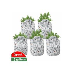 Abakuhaus Pflanzkübel hochleistungsfähig Stofftöpfe mit Griffen für Pflanzen, emoji Sad Hot Happy Face Moods 28 cm x 28 cm