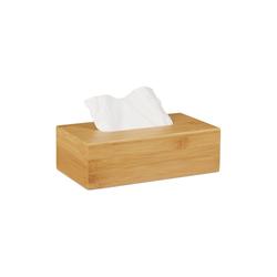 relaxdays Kosmetikbox Kosmetiktücherbox Bambus 27,5 cm