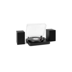Auna TT-Play SE Plattenspieler Lautsprecher 20 W max. BT 33/45/78rpm PitchControl AUX-In Line-Out weiß Plattenspieler