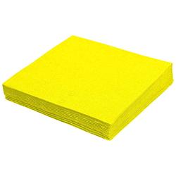 Servietten 33 x 33 cm 1/4 -Falz, 2-lagig gelb,  50 Stk.
