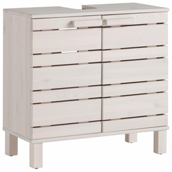 Home affaire Waschbeckenunterschrank Jossy aus Massivholz, Breite 60 cm weiß