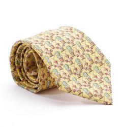 HERMÈS Herren Krawatte senf, Größe One Size, 5024347