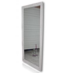 elbmöbel Wandspiegel Spiegel weiß schlicht 162cm, Spiegel 162 Wandspiegel Standspiegel weiß HOLZ Landhaus Holzrahmen Badspiegel