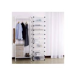 Woltu Schuhkommode, DIY Schuhschrank mit Tür, 10 Fächer aus Kunststoff