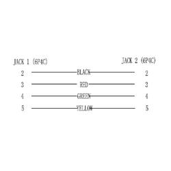 Goobay RJ11-Kupplung, (lose Ware), RJ11 Buchse > RJ11 Audio- & Video-Kabel