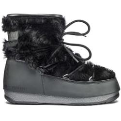 Moon Boot - Moon Boot Monaco Low Fur WP Black - Après-ski - Größe: 38