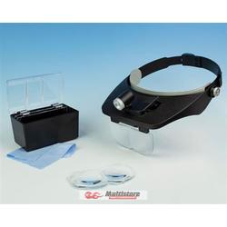 Krick Kopfbandlupe Bi-Plate mit 4 Linsen+LED / 492206