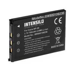 INTENSILO Li-Ion Akku 700 mAh (3.7V) für Kamera Camcorder Video Easypix W510 Unterwasserkamera wie NP-20.