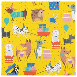 STAR Geschenkpapier, Geschenkpapier Hunde mit Geschenken 70cm x 2m, Rolle