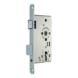 SSF Zimmertür-Einsteckschloss PZW 20/ 65/72/8mm DIN L VA rd Kl 3