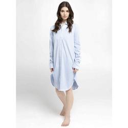 seidensticker Nachthemd Nachthemd, langarm (1-tlg) blau 46