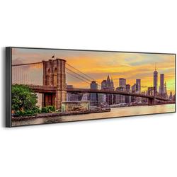 YS-Art Leinwandbild Skyline