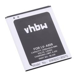 vhbw Li-Ion Akku 2500mAh (3.7V) für Netbook Pad Tablet Lenovo A8, A808, A808T wie BL229.