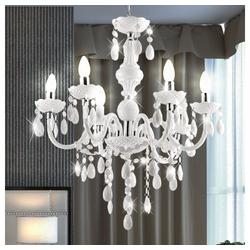 etc-shop Kronleuchter, LED 18 Watt Kronleuchter Pendel Lampe Beleuchtung Hänge Leuchte Acryl Dekor EEK A+
