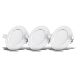 B.K.Licht LED Einbauleuchte, LED Einbauspots Bad Einbaustrahler ultra flach inkl. 3x 5W 450LM 3000K IP44