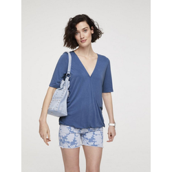 Shirt verlängerter Rücken blau 44