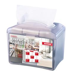 KATRIN Easy 1 Papierspender, Mobiler Papierspender aus ABS-Kunststoff, Maße (H x B x T): 193 x 120 x 168 mm