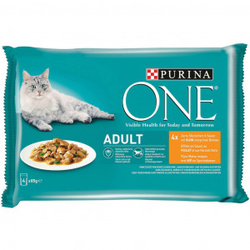 Purina One Adult Huhn 85g Katzen-Nassfutter 24 x 85 gr