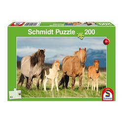 Schmidt Spiele Puzzle Pferdefamilie, 200 Puzzleteile