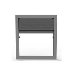 Insektenschutzplissee Insektenschutz Plissee ohne Bohren für Fenster und Dachfenster - Dachfensterplissee Moskitonetz Fliegengitter Mückengitter Fenstergitter Fliegenschutz, Nematek grau